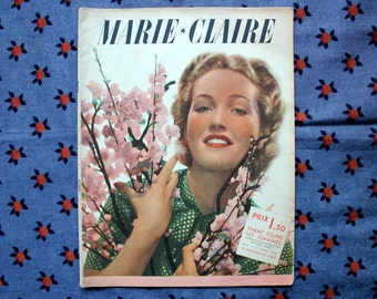 Vintage French magazine MARIE CLAIRE No. 8 of 23 april 1937 - Fashion - MODE - 48 pages - Original and complete !
