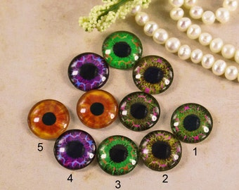 12mm,16mm,20mmglass eye Mix Handmade glass cabochon cabss eye 12P001
