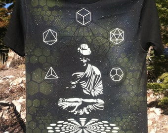 Cosmic Buddha Glow in the Dark Airbrushed T Shirt