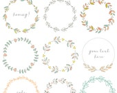 Hand Drawn Laurel Wreath Clip Art Images, Vector,  and Photoshop Brushes