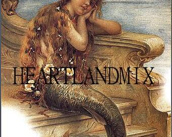 Mermaid Victorian Wall Art Image Download Printable