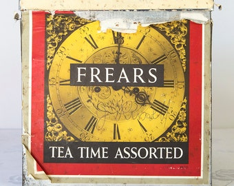 Vintage Biscuit Tin, Frears Tea Time Assorted