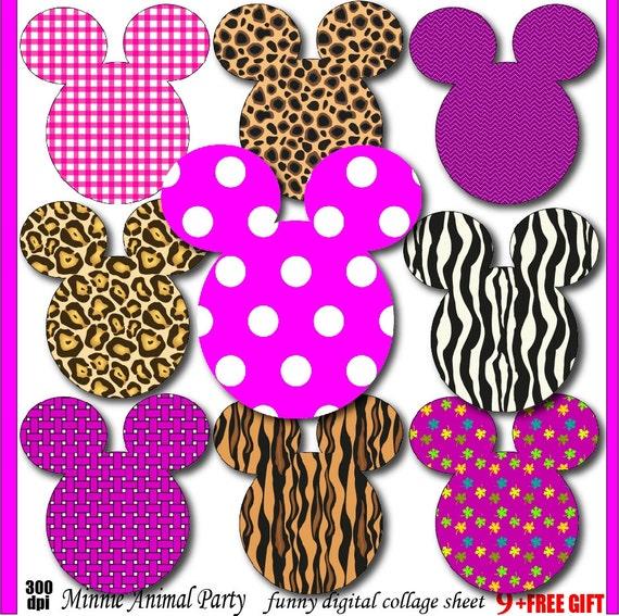 minnie clipart animal print minnie mouse birthday invitation, Birthday invitations