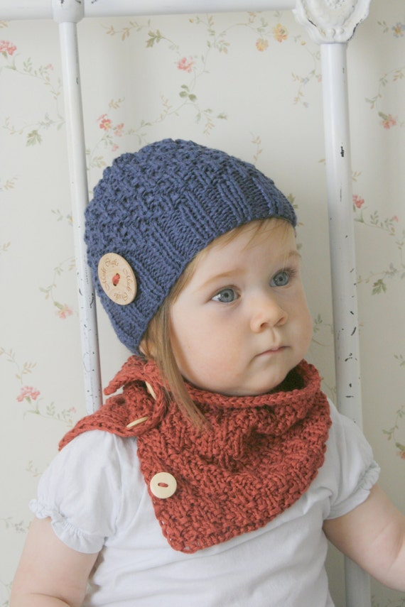 Knitting Pattern For Childs Beanie Hat : KNITTING PATTERN beanie hat and cowl set Eti baby by MukiCrafts