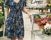 Printed Pattern Summer Jazz Dress Snapdragon Studios