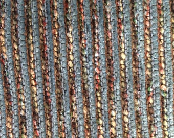 Teal and Multicolored Upholstery Fabric - Upholstery Fabric By The Yard