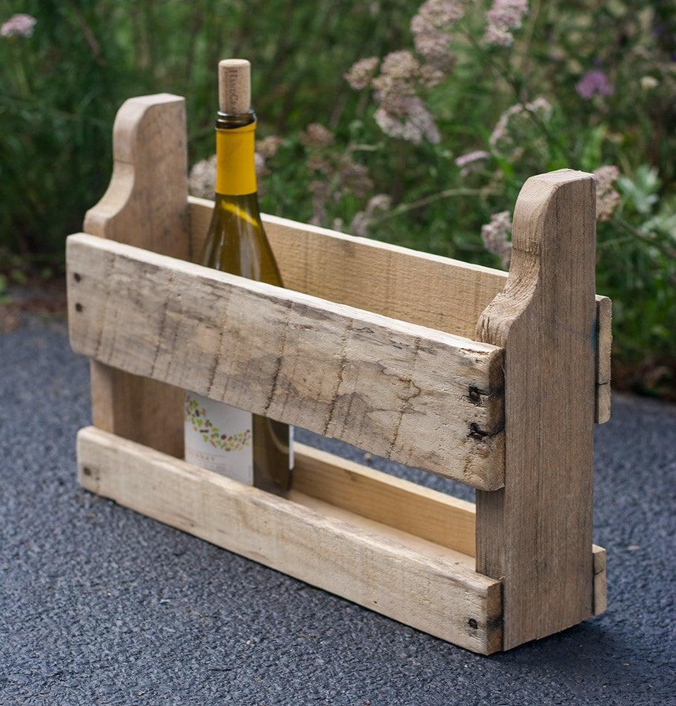 rustic wine rack small wood wine rack reclaimed pallet. Black Bedroom Furniture Sets. Home Design Ideas