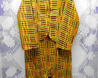 Yellow African print long skirt set L-XL ON SALE from 55.00