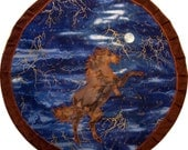 Mythala: Horse; Dancing with the Stars Mandala...Myth...Mythala (Wall Hanging, Altar Cloth, Prayer, Meditation, Totem, Devotional, Ritual)