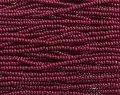 6/0 Opaque Oxblood Red Czech Glass Seed Bead Strand (CW126)