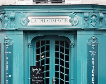 Paris Photography - La Pharmacie, France Travel Photograph, French Home Decor, Large Wall Art