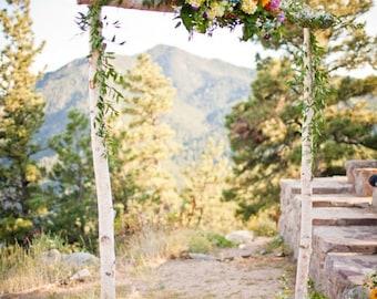 3 Piece Birch Wedding Arch/Arbor Only