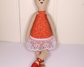 Cottage Bear - Rag Doll Style - Ballerina