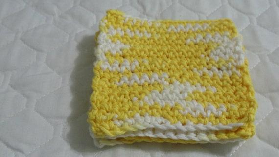 Crocheted Coasters Trivets - Daisy Ombre