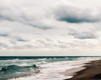 Beach Photography - Winter Sea Fine Art Photograph - Florida Ocean Print - Atlantic Seaside - Beach Decor
