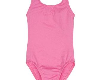 BRIGHT PINK Leotard for Toddler & Girls - Sleeveless Tank