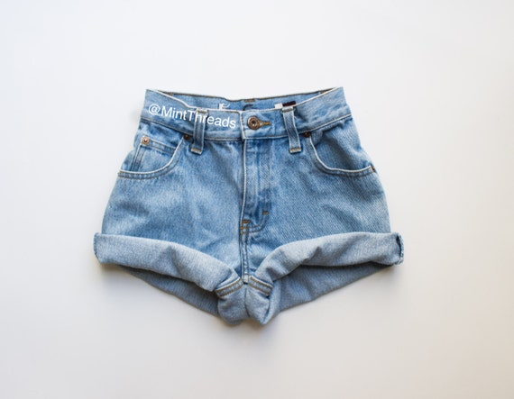 "ALL SIZES Vintage ""HELIOS"" High Waisted Denim Shorts"