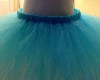 Teal flowergirl skirt