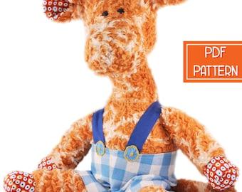 Plush Pattern | Giraffe Toy Pattern | Soft Toy PDF Sewing Pattern, Softie Pattern, Stuffed Animal Sewing Pattern, Printable Plushie Pattern