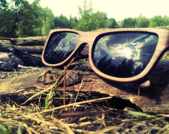 Natural Wood Sunglasses from Walnut by WOODEER