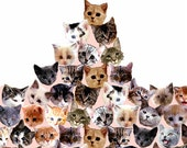 contemporary decor: kittyscape. limited edition DIY giclee print