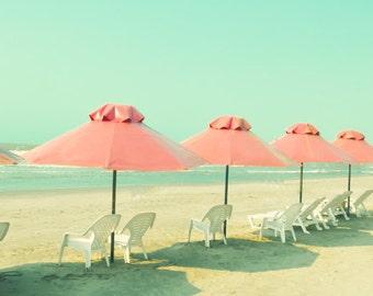 SALE, Beach art, large wall art, beach photography, large art, beach print, turquoise, pink, coral, beach wall art, beach prints, wall art