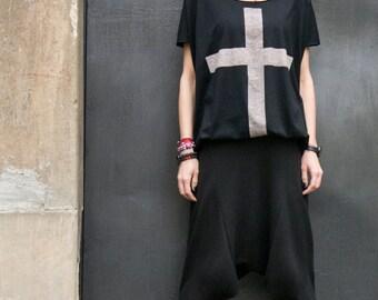 NEW COLLECTION Loose Casual Black Drop Crotch Harem Pants / Extravagant Black Pants/Unisex pants A05062