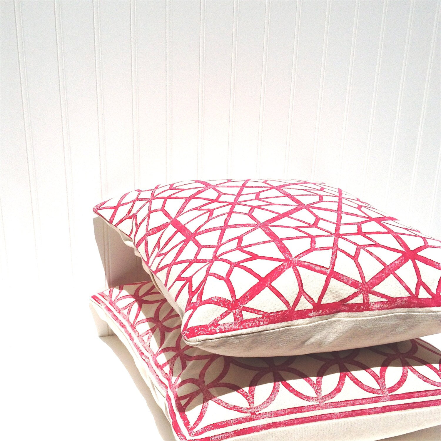 Throw Pillows With Stars : Red Star Throw Pillow Decorative Pillow Cover Handprinted
