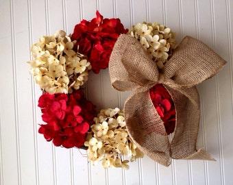 Valentine's day wreath, red wreath, spring wreath, door wreath, front door wreath