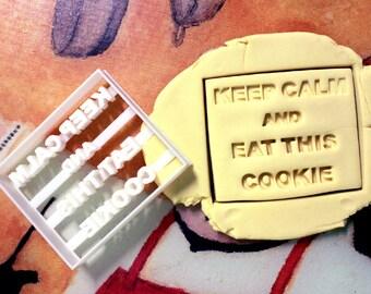 Keep Calm Cookie Cutter