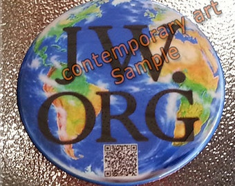 jw.org pin button with QR code Why Study The Bible.