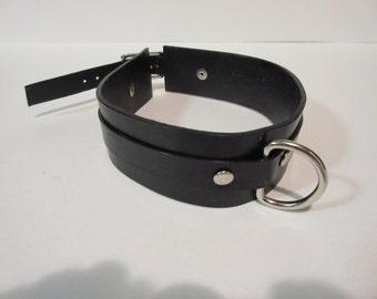 Black D-Ring Collar