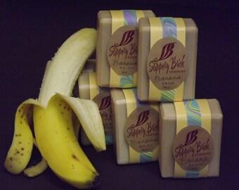 Banana Natural Soap Brick