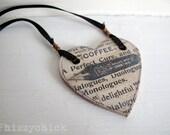 Coffee & Books - A Novelist Necklace