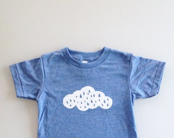 Rain Cloud Kids Shirt (4t / T4 - heather blue)
