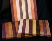 """8x8"""" exotic and domestic wood cutting board/chopping trivet butcher block made of many different woods. Random selection by maker"""