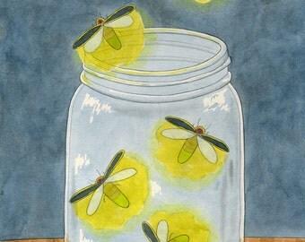 Firefly Summer Digital Print