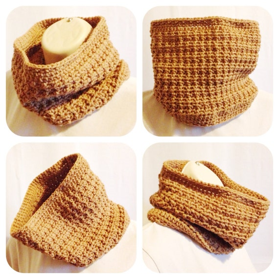 Honeycomb Cowl Crochet Pattern by ZulaMade on Etsy