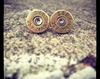 Simple Bullet Earrings, Bullet Post Earrings, Bullet Jewelry for Women, 9mm Earrings for Women, 38 Special Earrings, 45 Auto Earrings