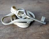 Antique Skeleton Key Necklace - deerskin cord - key necklace -key jewelry - vintage key necklace - bohemian jewelry