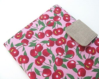 iPad Mini Cover Kindle Fire Cover Nook Simple Touch Cover Kobo Cover Case Pink Red Cherries Fruit Gingham Picnic eReader