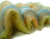 Wool Fiber Batts -- Hand Carded in Multi Colors -- 2 ounces Lot #3