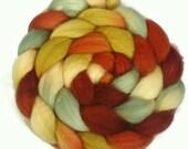 Handpainted Superwash BFL Wool Nylon 80/20 Sock Roving - 4 oz. HARVEST - Spinning Fiber