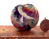 Handmade Lampwork Focal Bead in Jewel Tones by Pam Brisse aka The Blue Between