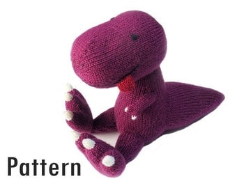 PDF Pattern - Hektor the Tyrannosaurus - Knitting