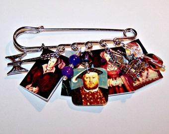 KING HENRY VIII Wearable Art Pin