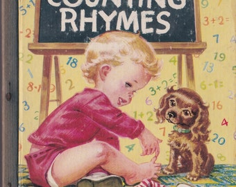 Counting Rhymes a Little Golden Book - Corinne Malvern - 1946 - Vintage Book