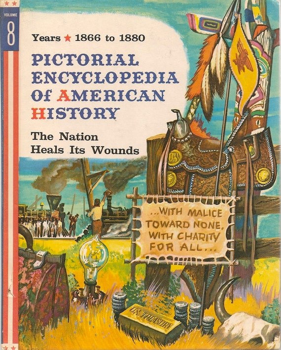 VINTAGE KIDS BOOK Pictorial Encyclopedia Of American History