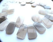 The Times Square- Gray Agate Statement Necklaces