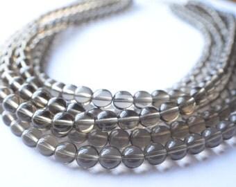 The Michelle- Smoky Quartz Czech Glass Statement Necklace